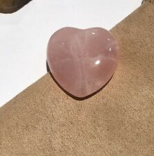 Rose Quartz Small Heart.
