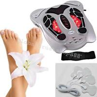 Electromagnetic Wave Pulse Blood Circulation TENS Foot Massager +8 pads US SHIP