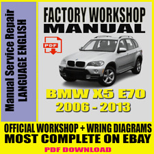 OFFICIAL WORKSHOP Manual Service Repair BMW Series X5 E70 2006 - 2013