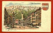 AUSTRIA, INNSBRUCK, MARIA THERESIASTRASSE, DATED 1918 m