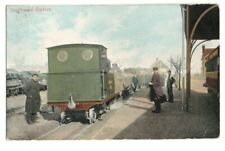 PC SOUTHWOLD RAILWAY LOCO IN STATION NARROW GAUGE RAIL SUFFOLK POSTED 1906