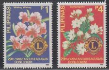Philippine Stamps 1990 Flowers (Southeast Asian Lions Forum) Complete set MNH