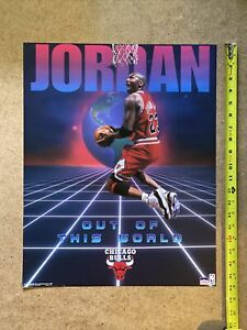 Vintage Michael Jordan: Out of This World Chicago Bulls NBA 16x20 Poster