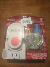 Febreze FRESH PRESSED APPLE Plug In Oil Warmer Set