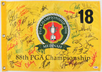 2006 PGA Championship Pin Flag Signed by (44) Mickelson, Furyk, Couples PSA COA