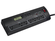 7 Outlet Power Surge Protector w/ Dual Timer Controller 2 USB Port 2100 Joules