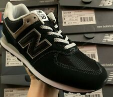 Size 4.5 New Balance 574 women's ladies black sports gym trainers / 4 and a half