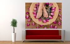 BEAUTY SALON SPA NAILS PEDACURE GIANT ART PRINT POSTER