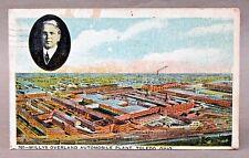 1919 WILLYS-OVERLAND AUTOMOBILE PLANT Toledo OHIO factory advertising postcard *