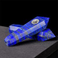 Natural Lapis Lazuli Jasper Crystal Smoking Pipes Quartz Gemstone Wand Healing