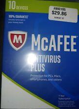 McAfee Antivirus Plus 10 Devices 1 Year MAV17ESA0RAA software pc computer