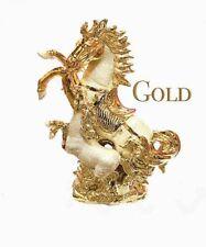 ITALIAN GOLD HORSE SILVER ROMANY GYPSY CHINA ORNAMENT CERAMIC CENTER PIECE 25CM
