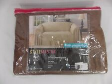 Stylemaster Brianna Jacquard Furniture Throw, Café Brown Loveseat 70 x 114