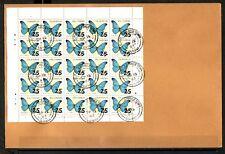 Guyana, Scott cat. 1812. Butterflies Revalued sheet of 25. First day cover