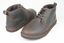 UGG Neumel Leather China Tea Shearling Sheepskin  Boots US Size 12 Men IN BOX