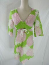 Skirtin Around Green Floral Dress/Cover up Size 4
