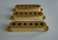 Gold Fender Stratocaster Strat Guitar Pickup Cover Set of 3 Covers NEW