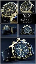 Seawolf de lujo & deportivo Mega chrongraph señores reloj de la casa Cavadini nuevo