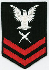 NAVY RATING BADGE MALE CT2 FULLY EMBROIDERED FOR BLUES