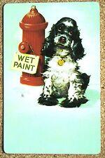 DOG - SPANIEL - BUTCH - WET PNT - SINGLE VINTAGE SWAP PLAYING CARD