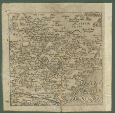 ROMA cartina dei dintorni della città. Dall'opera di Francesco Scoto anno 1670