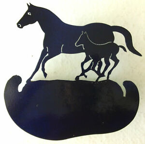 Metal Laser Cut Mare Horse with Her Colt - Great Craft Item