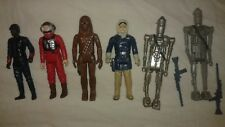 VINTAGE STAR WARS 1977-1983 FIGURES LOT OF 6 TAKE A LOOK! 2 WEAPONS