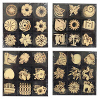 36 Wooden Shaped Embellishments Card Toppers Mix Designs Craft Scrapbooking 0275