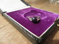 Toller 925 Silber Ring Schwarze Kugel Zirkonia wie Diamant Designer Modern Edel