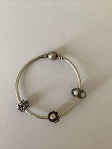 Genuine PANDORA Bracelet With Charms - Sterling Silver