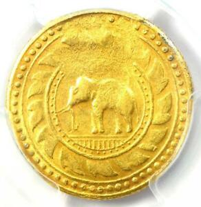 1863 Thailand Gold Tot Elephant Coin 8 Baht Y-15 - Certified PCGS XF Detail (EF)