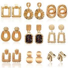 Fashion Women Gold Tassel Dangle Statement Boho Alloy Geometric Big Earrings