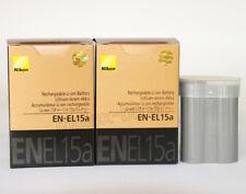 2 x EN-EL15a EL15a New Batteries For Nikon D7100 D850 D7500 D810 D800 D7200 D750