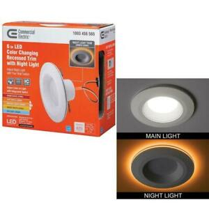 """Commercial Electric 6 """" LED Color Changing Recessed Trim with Night Light QTY 16"""
