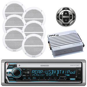 "Kenwood Marine CD USB Bluetooth Radio, Wired Remote ,6.5"" Speakers, Amplifier"