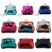 Bags Card Holder Clutch Handy Purse Hasp Mini Wallet Sequins Coin Purse