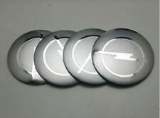 56.5mm Emblem Badge Sticker Wheel Hub Caps Center Cover OPEL Silver