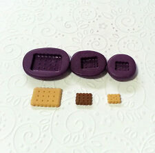 Silicone Molds Miniature Rectangle Biscuit Moulds Set (7-16mm) Jewelry Dollhouse