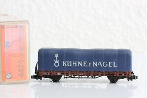 N ARNOLD 4474 Kühne Nagel Planenwagen Waggon GÜTERWAGEN boxcar OVP J55
