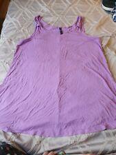 Evans Purple Sleeveless Top Size 18