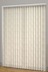 Sunlover Linen look  Natural Vertical Blinds. Complete. 4 sizes. Can be Cut NEW