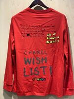 Chanel X Pharrell Capsule Collection (Red) Long Sleeve Graffiti T-Shirt *RARE XL