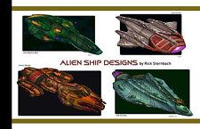 Star Trek TNG/DS9/Voyager Alien Ships Design Sketch Booklet