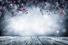 7X5ft Christmas Theme Background Poly Fabric Photo Backdrops Customized Studio