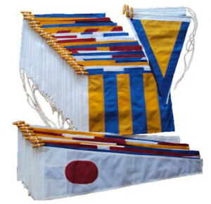 Signal flags ICOS sewn MoD approved pennants code Bravo signalling stitched UK