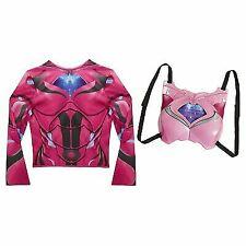 Power Rangers Kids Girls Deluxe Dress up Pink Ranger Costume Size 4 - 7x