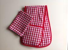 Juguete de horno guantes de casa esquina Jugar Juguete Cocina Cuadros Rojos Estilo Country