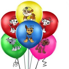 PAW PATROL BALLOONS 6 PACK BIRTHDAY PARTY LOLLY LOOT BAG BALLOON SUPPLIES