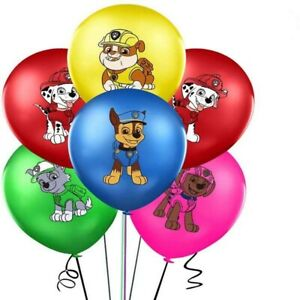 PAW PATROL BALLOONS 5 PACK BIRTHDAY PARTY LOLLY LOOT BAG BALLOON SUPPLIES