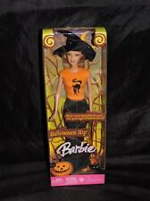 Halloween Hip Barbie Doll NEW Witch Costume Orange Shirt Black Cat Hat J0586